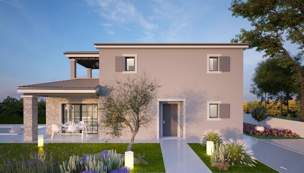 Haus im Bau mit Pool zum Verkauf Vižinada