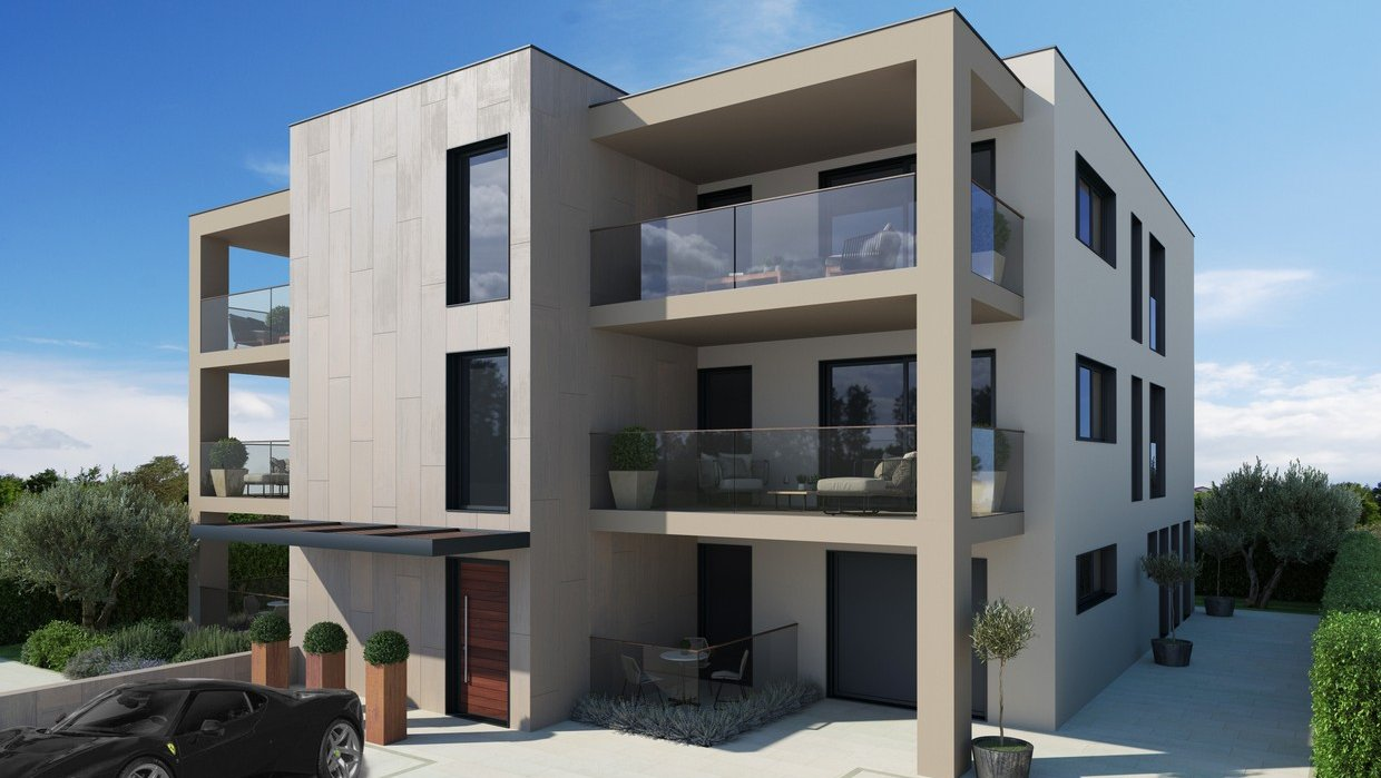Three bedroom apartment under construction near sea and center of Porec