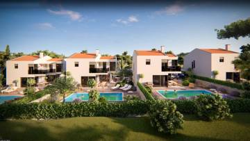 Building land with a project for 4 villas with pool