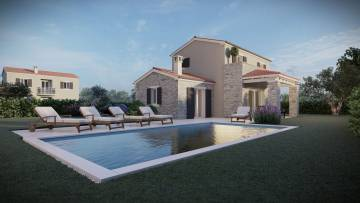 House with pool for sale near Tinjan